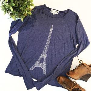 Wildfox Eiffel Tower Print Pullover Size XS